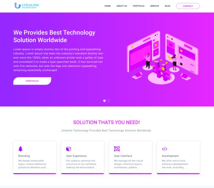 Ultraline IT Business Template